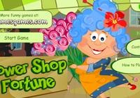 fille, fleur, fleuriste, magasin, marchande