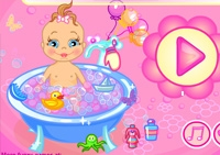 bébé, bain, baby sitting, baby sitter