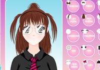 coiffure, maquillage, esthéticienne, fille