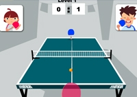 Ping-pong, tennis de table, filet, balle, sport, pongiste