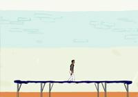 Trampoline, acrobaties, saltos, vrilles, athlète, gym, sport