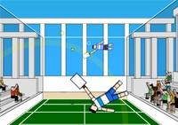 Tennis, raquette, balle, revers, match, sport, sportif, tennisman, marionette