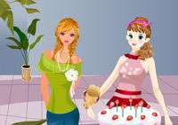 fleur, fille, fleuriste, bouquet