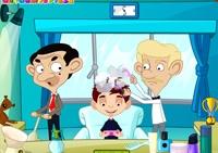 Mr Bean, coiffure, coiffeur