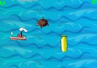 bateaux, océan, réflexes, adresse, tortue