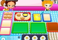 cuisine, fille, crèche, bébé, métier, organisation