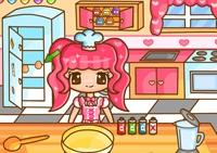 Cuisine, fille, cookies