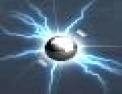 Eclair, boule, energie, électricité, particules