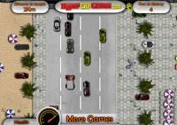 voiture, course, poursuite, conduite