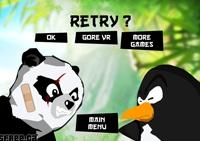tirer, rigolo, panda, pingouin, tir