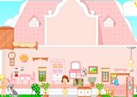 décoration, fille, décoratrice, meubles