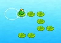 observation, réflexion, saut, crapaud, grenouille, marre, étang