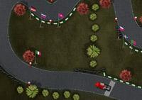 conduite, véhicule, pilotage, camion, course, circuit, drift