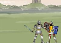 combat, chevalier, épée,bouclier