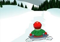 luge, hiver, sport, glisse, slalom