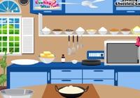 fille, pâtisserie, cuisine