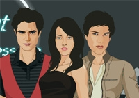 habillement, fille, Twilight, styliste, habillage, relooking, dress up