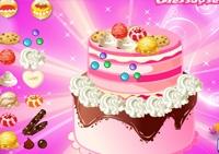 cuisine, fille, pâtisserie, gâteau, cake