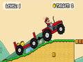Tracteur, pilote, 4x4, piste, conduite, nintendo, Mario