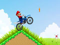 moto, Mario, motocross, cross, bike, obstacle
