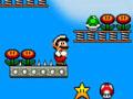 Mario, escalier, descente, pièges, plateforme, saut