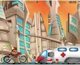 moto, trial, cascade, motard