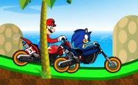 Sonic, Mario, motocross