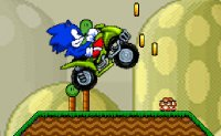 Sonic, séga, quad, hedgehog, ATV