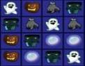 halloween, réflexion, série de trois, série de 3, observation, alignement, citrouille