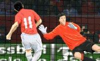 équipe, foot, pénalty, but, goal