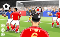 attaquant, coup de tête, goal, soccer