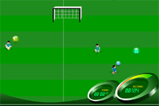 soccer, course, ballon, courir