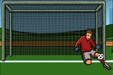 goal, équipe de foot, gardien de but, balle