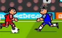 attaquant, ballon, but, football