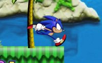 Sonic, courrir, hedgehog, plateforme