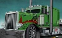 poids lourd, camion, semi-remorque, transporteur