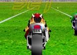 terrain de foot, course, moto, motard, pilotage