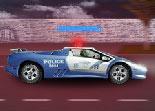 police, course poursuite, voiture,