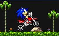 Sonic, hedgehog, moto, 2 roues