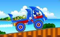 camion, Sonic, poids-lourd, hedgehog