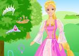 habillage, Rapunzel, Barbie, élégence