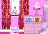décoration, fille, décoratrice, aménagement, chambre