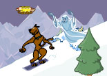Scooby Doo, cartoon, snowboard, sport