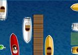 Amarrage, vedette rapide, parking, bateau