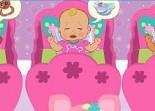 bébé, gestion, fille, nourrice