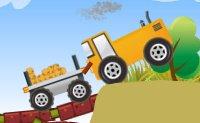 tracteur, conduite, livraison, fermiers