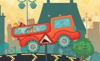 pizzas, livreur de pizza, camion, chauffeur livreur