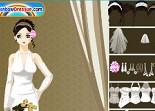 habillage, mariée, robe de mariée,