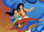 Jasmine, Génie, Aladdin, coloriage