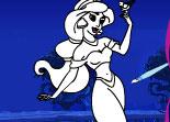 Ariel, Jasmine, coloriage, Disney